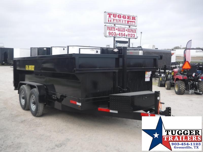 2020 Texas Pride Trailers 7x14 14ft Steel Heavy Duty Rock Gravel Landscape Dump Trailer