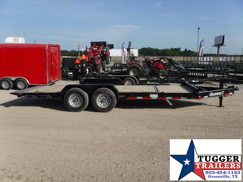 2019 Diamond C Trailers 82X20 20ft HDT Tilt Flatbed Open Car Hauler Trailer