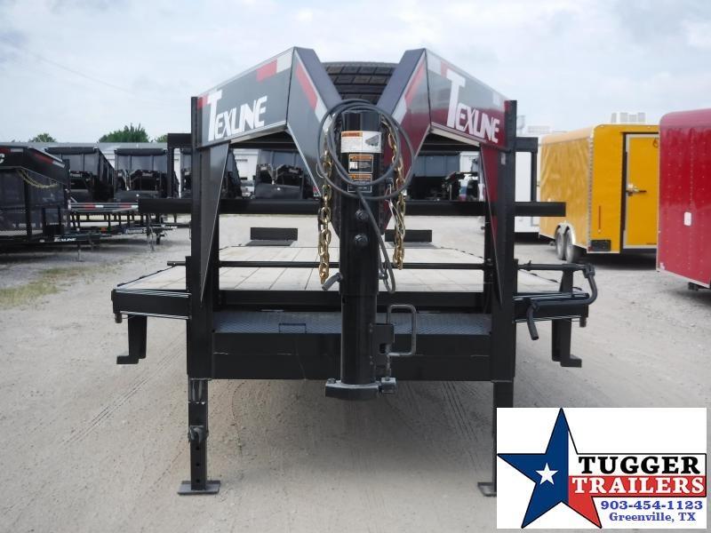 2019 TexLine 102x25 25ft Utility Equipment Deck Over Flatbed Open Gooseneck Trailer