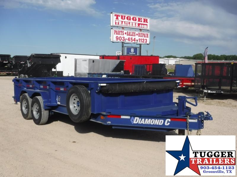 2020 Diamond C Trailers 82x16 16ft Utility Steel Heavy Duty Work Asphalt Dump Trailer