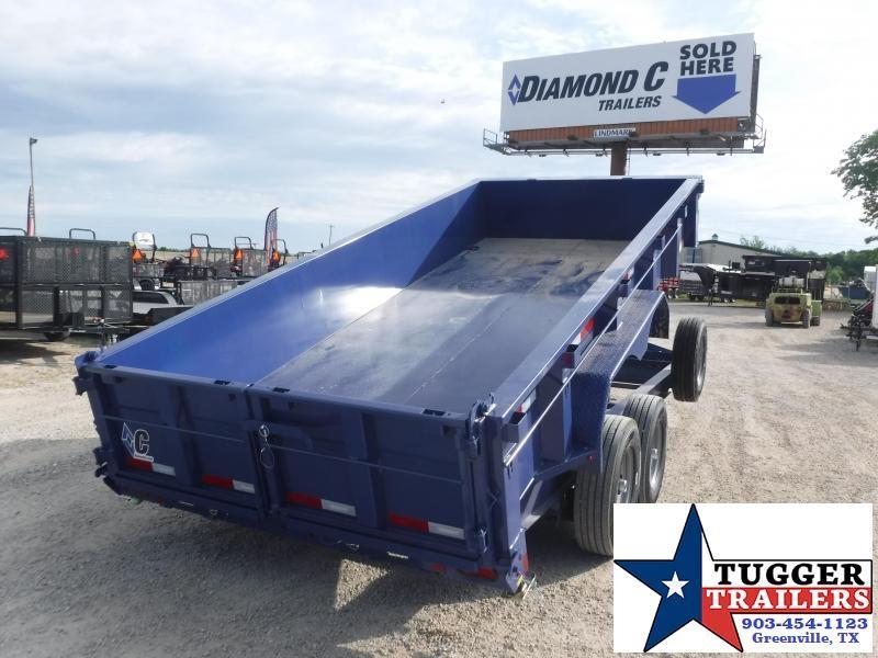 2020 Diamond C Trailers 82x16 16ft Utility Steel Heavy Duty Work Asphalt Dump Trailer