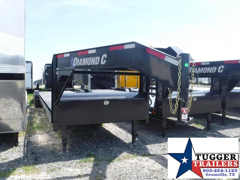 2019 Diamond C Trailers 82x36 36ft Black Open Gooseneck 2019 MVC207 Flatbed Trailer