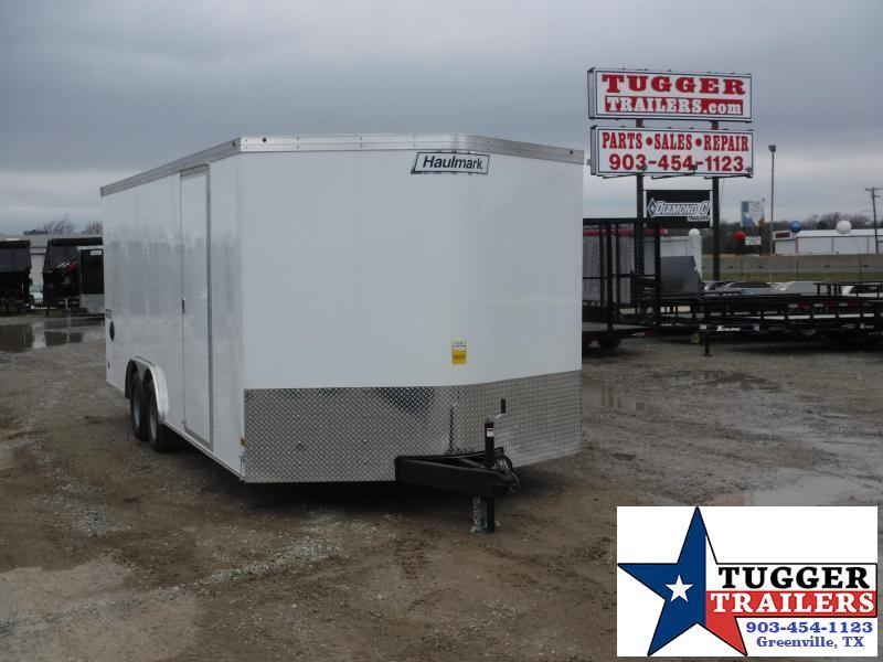 2019 Haulmark 8.5x20 20ft White 2019 with Ramp Enclosed Cargo Trailer
