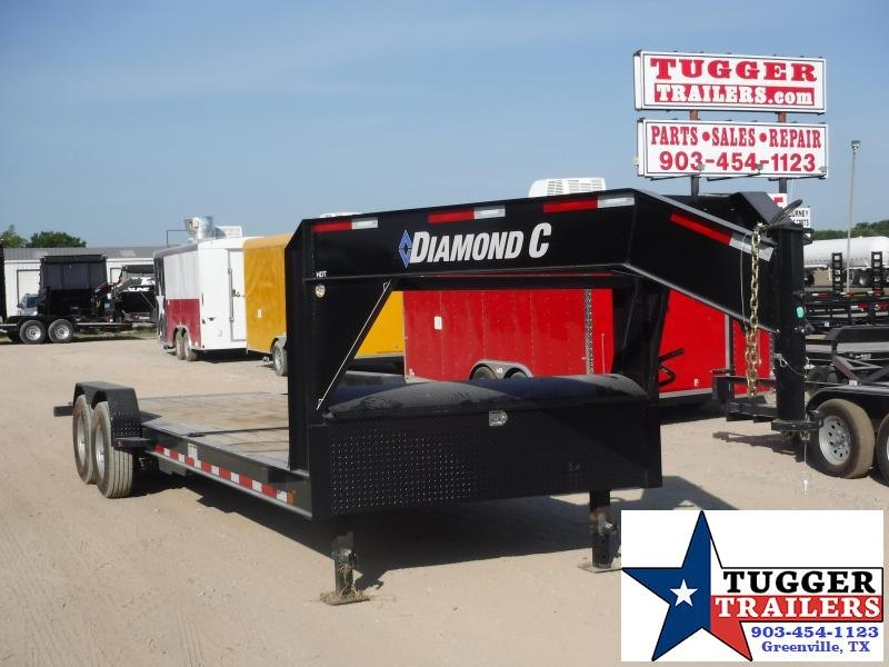 2019 Diamond C Trailers 82x24 24ft Open Gooseneck Utility Tilt Flatbed Open Car Hauler Trailer