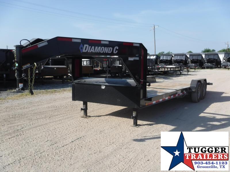 2019 Diamond C Trailers 82x24 24ft Open Gooseneck Utility Tilt Flatbed Open Car Hauler Trailer