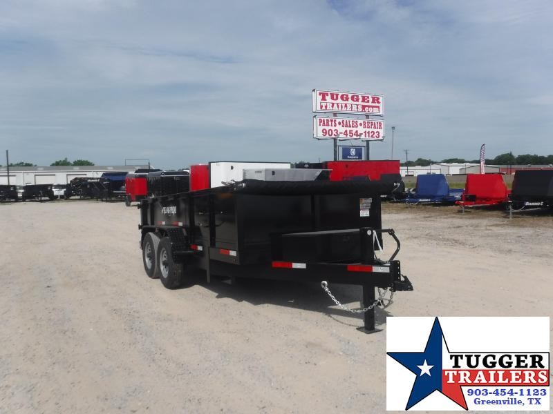 2020 Texas Pride Trailers 7x14 14ft Contractor Asphalt Rock Work Business Dump Trailer