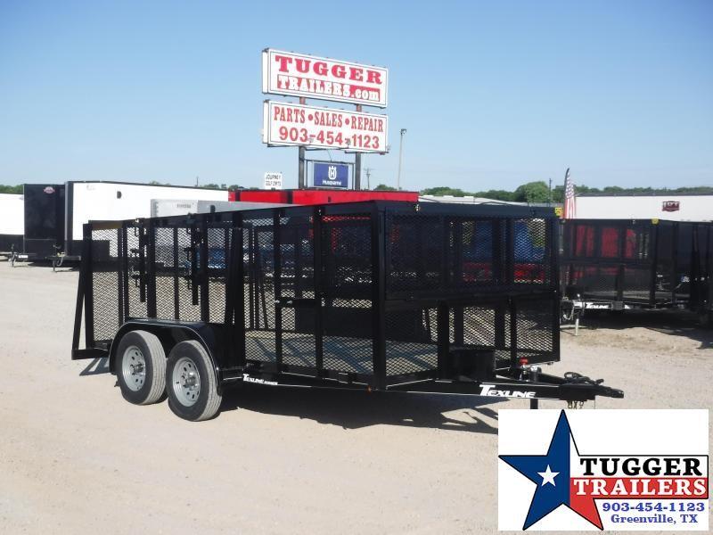 2020 TexLine 83x14 14ft Steel Flatbed Lawn Mow Landscape Equip Utility Trailer