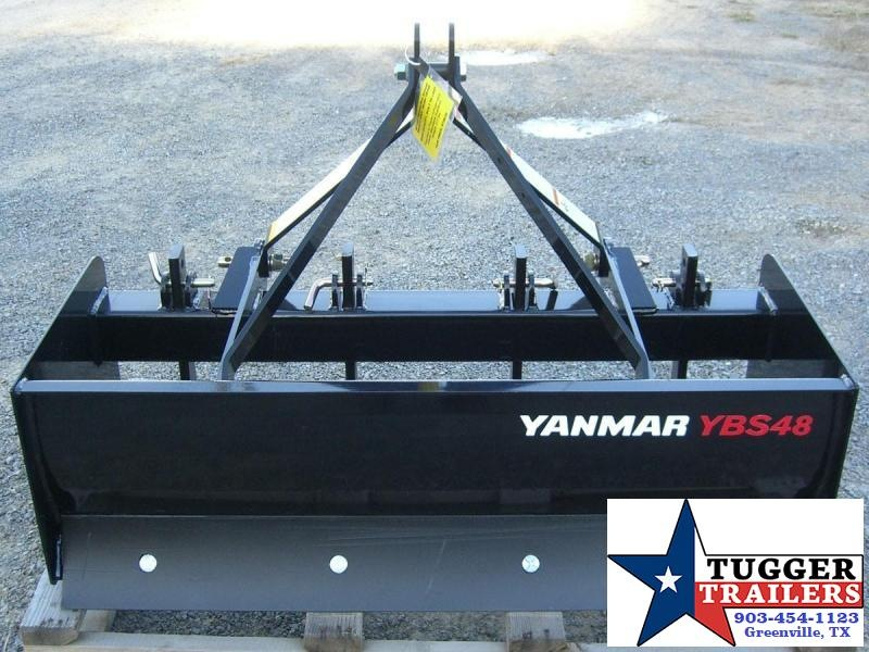 "48"" Yanmar (by Woods Equipment) 3-Point Tractor Box Scraper / Box Blade Model YBS48"
