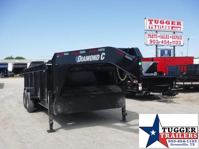 2020 Diamond C Trailers 82x12 12ft Steel Heavy Duty Construction Asphalt Dump Trailer