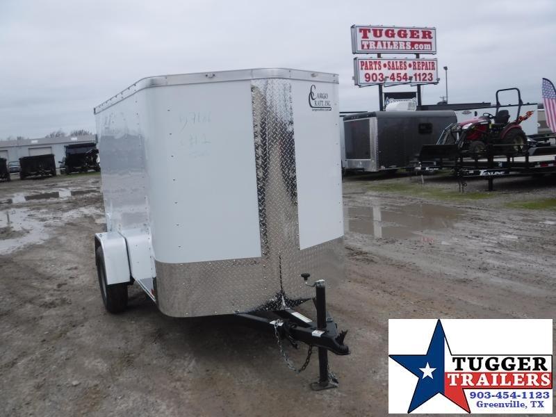 2020 Cargo Craft 5x8 8ft Elite Plus 2' V-Nose Single Door Utility Enclosed Cargo Trailer