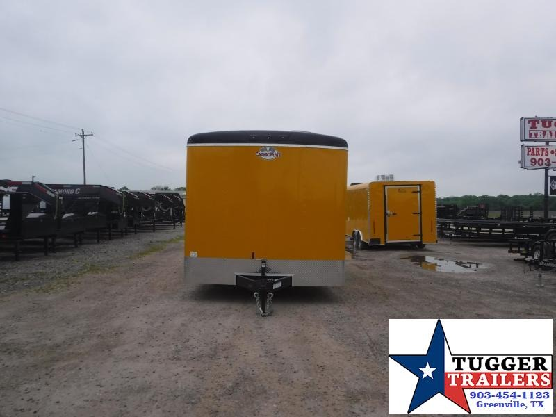 2019 Cargo Mate 8.5x16 16ft Yellow Food BBQ Taco Vending / Concession Trailer