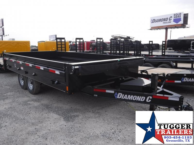 2019 Diamond C Trailers 96x16 16ft Black 2019 DOD Dump Trailer