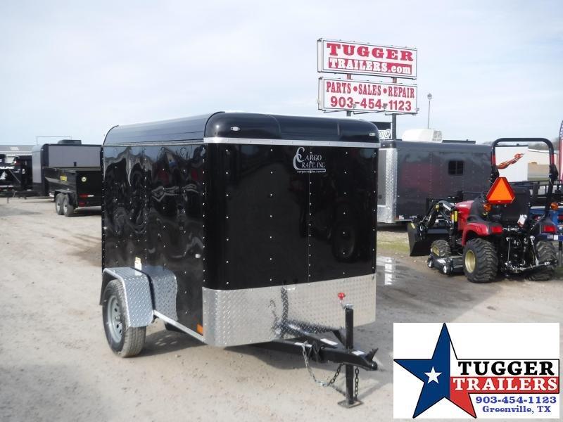 2020 Cargo Craft 5x8 8ft Elite Plus 2' V-Nose Black Ramp Enclosed Cargo Trailer