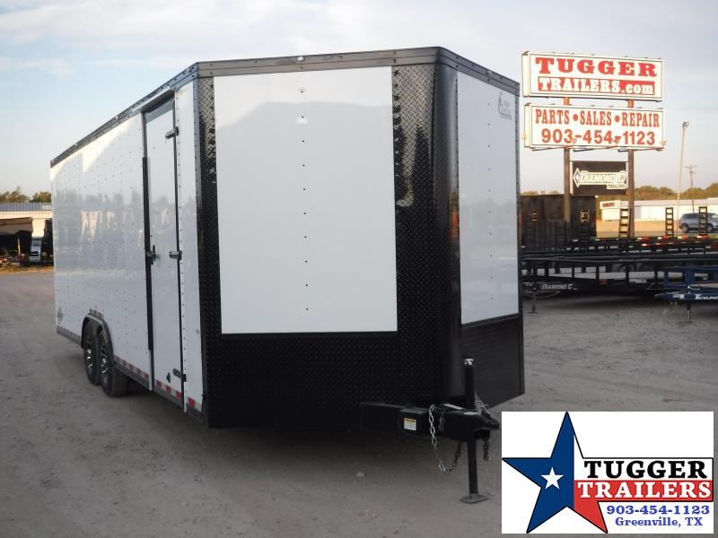 2020 Cargo Craft 8.5x24 Plus 3Ft V-NoseEnclosed Auto Mobile Classic Blackout Car / Racing Trailer