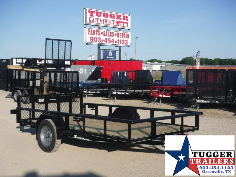 2020 TexLine 77x12 12ft Stealth Flatbed Equipment Toy Move Mow Utility Trailer