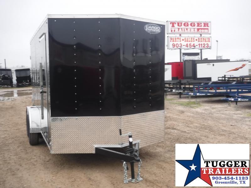 """2020 Cargo Express 7x14 14ft 18"""" V-Nose Utility Black Enclosed Cargo Trailer"""