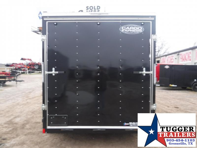 "2020 Cargo Express 7x14 14ft 18"" V-Nose Utility Black Enclosed Cargo Trailer"
