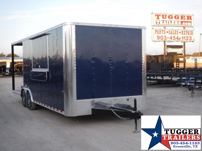 2020 Cargo Craft 8.5x24 24ft Porch BBQ Taco Street Ice Snow Vending / Concession Trailer