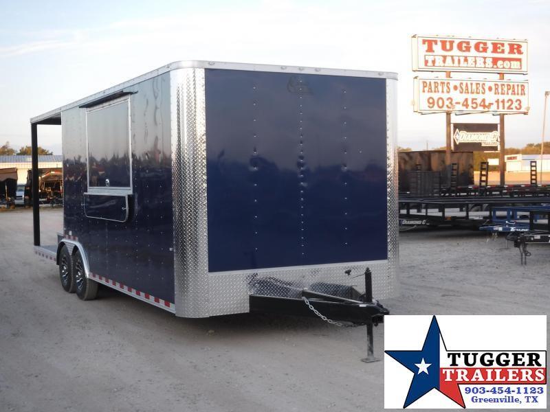 2020 Cargo Craft 8.5x24 24ft Porch BBQ Taco Street Ice Snow Vending / Concession Trailer