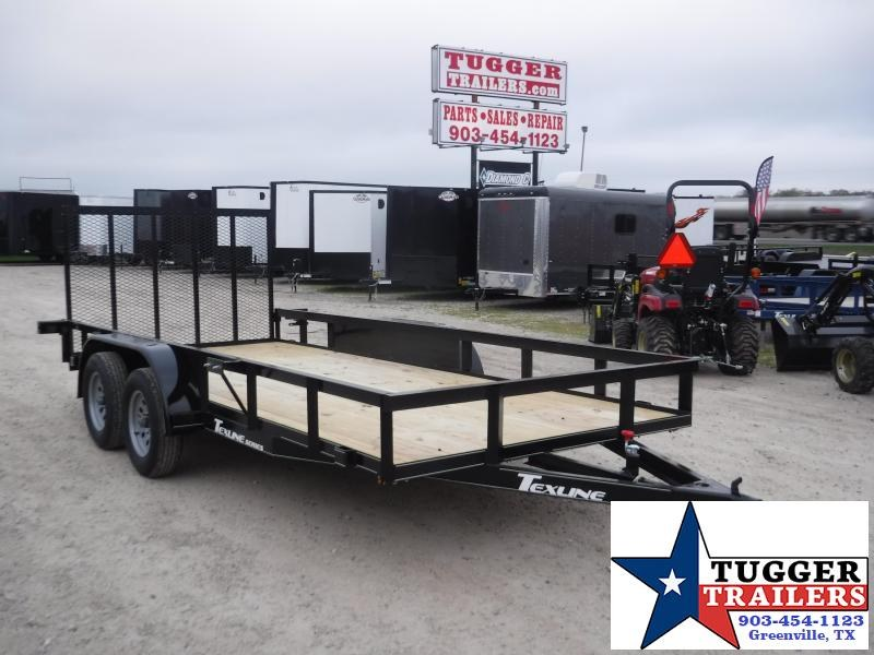 2020 TexLine 77x16 16ft Flatbed Side Toy ATV UTV Camp Move Utility Trailer
