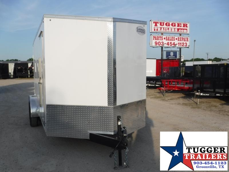 2021 Cargo Express 7x16 16ft Utility Slope V-Nose Ramp Landscape Enclosed Cargo Trailer