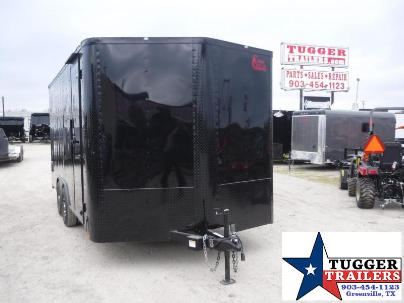 2020 Cargo Craft 8.5x16 16ft Black Out Utility Toy Work Enclosed Cargo Trailer