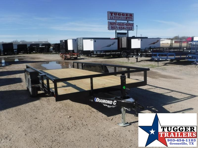 2020 Diamond C Trailers 83x16 16ft Flatbed GTU Utility Trailer