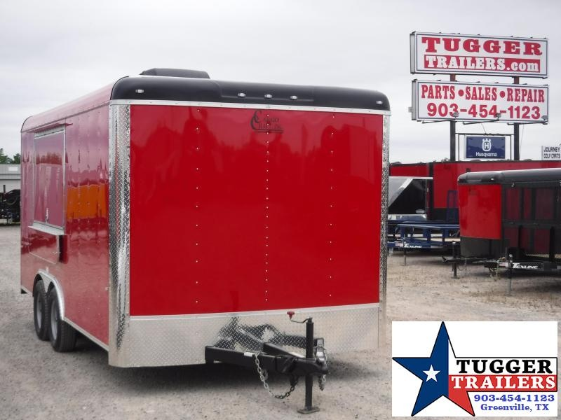 2020 Cargo Craft 8.5x16 16ft Taco BBQ Snow Food Street Cargo Vending / Concession Trailer