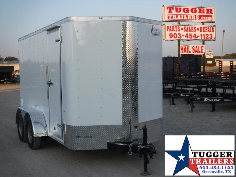 2020 Cargo Craft 6x12 12ft White Double Door Enclosed Cargo Trailer