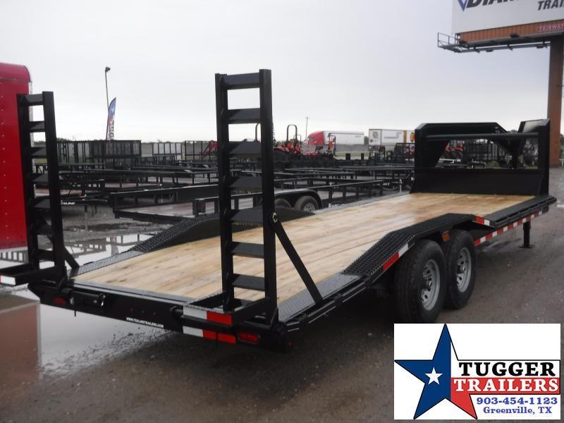 2019 TexLine 83x24 24ft Gooseneck Flatbed Equipment Utility Trailer