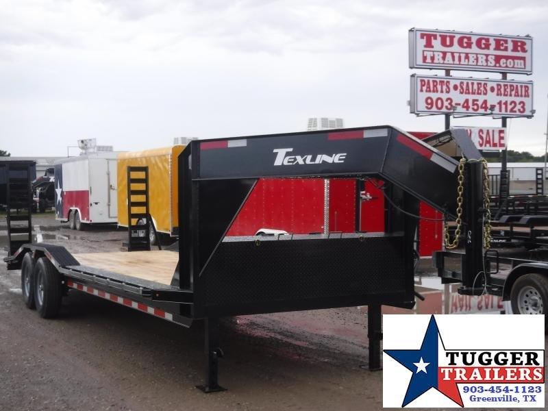 2019 TexLine 83x24 24ft Open Gooseneck Flatbed Equipment Utility Trailer