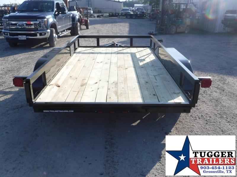 2019 TexLine 77x12 12ft Utility Ramp Open Flatbed Trailer