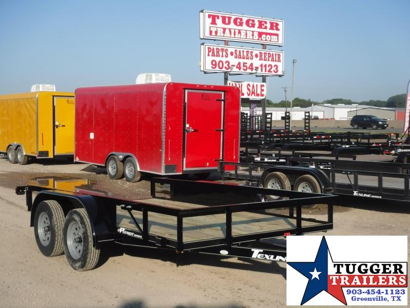 2019 TexLine 77x12 12ft Utility Ramp Open Flatbed Trailer