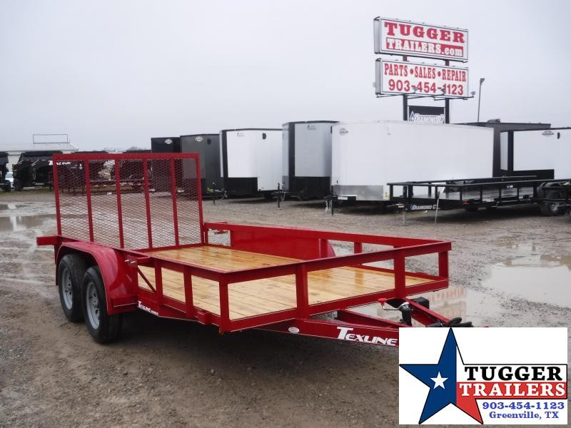 2020 TexLine 77x14 14ft Utility Flatbed Trailer