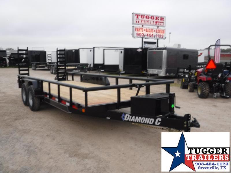 2020 Diamond C Trailers 82x20 EDU Ramp Steel Heavy Duty Utility Flatbed Equipment Trailer