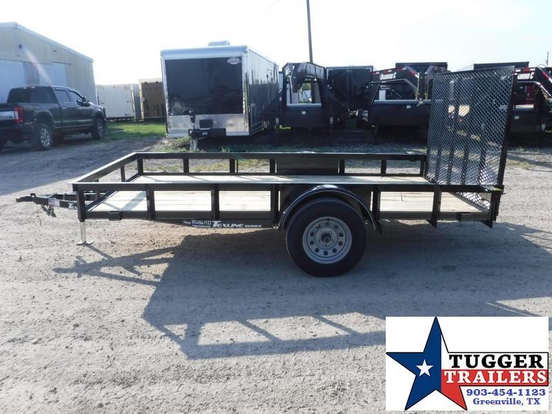 2019 TexLine 77x12 12ft Ramp Flatbed Utility Trailer
