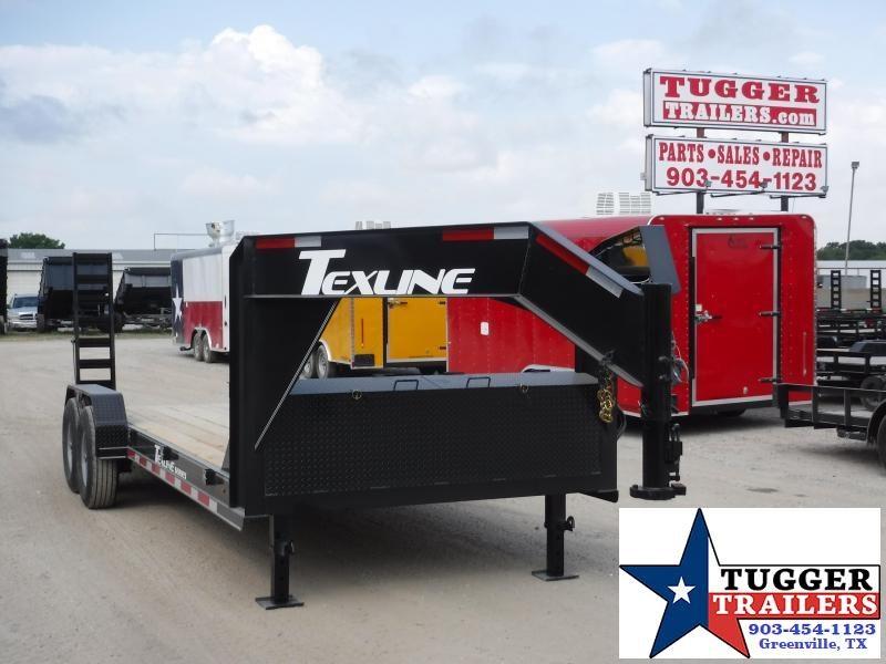2019 TexLine 83x20 20ft Open Gooseneck Utility Equipment Bobcat Flatbed Trailer