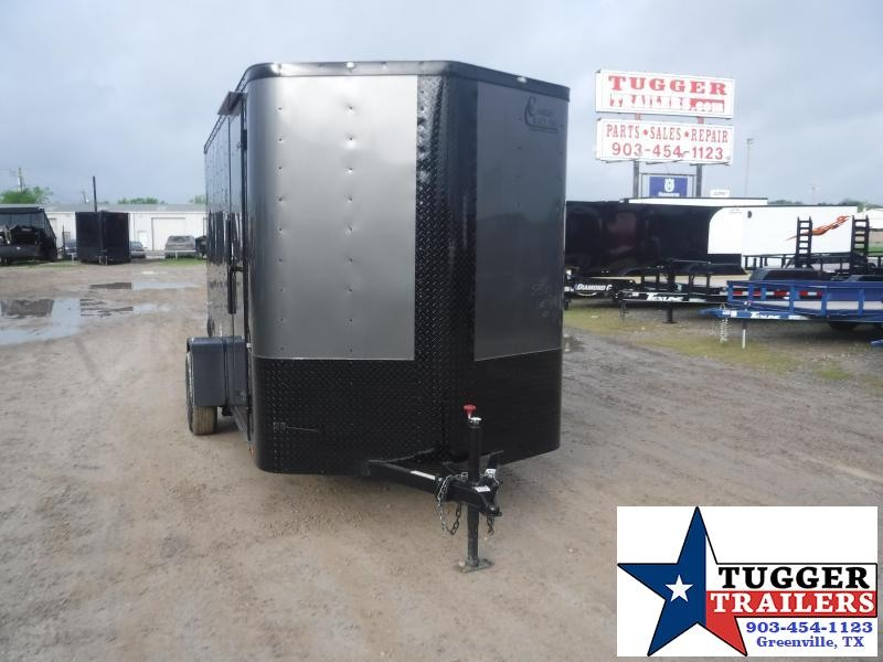 2020 Cargo Craft 6x12 12ft Elite Plus 2' V-Nose Black Out Utility Enclosed Cargo Trailer
