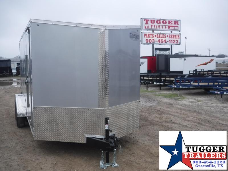 2020 Cargo Express 7x16 16ft Silver Slope V-Nose Ramp Utility Enclosed Cargo Trailer