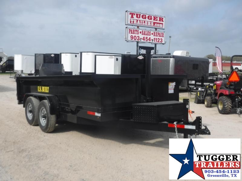 2020 Texas Pride Trailers 7x14 14ft Steel Heavy Duty Work Construction Rock Dump Trailer