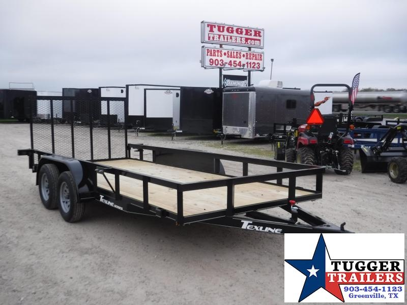 2020 TexLine 77x16 16ft Side Equipment Flatbed Toy Hauler Utility Trailer