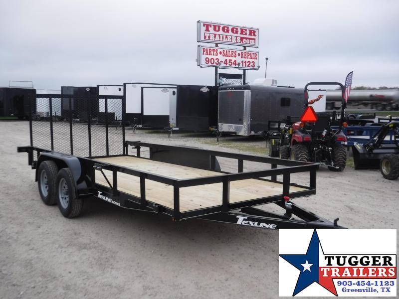 2020 TexLine 77x16 16ft Side Equipment Flatbed Toy Hauler Utility Trailer