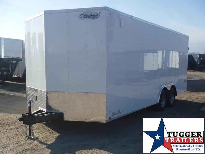 "2020 Cargo Express 8.5x20 20ft Plus 18"" V-Nose Auto Mobile Enclosed Car / Racing Trailer"