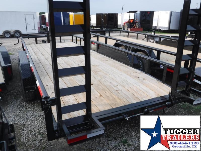 2019 TexLine 83x20 20ft Bobcat Dovetail Flatbed Utility Equipment Trailer