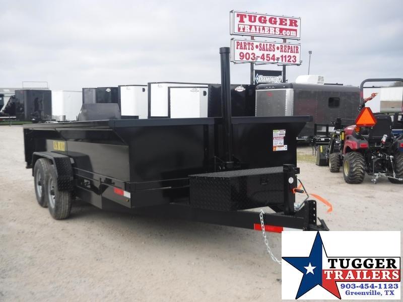 2020 Texas Pride Trailers 7x16 16ft Steel Heavy Duty Work Construction Rock Dump Trailer