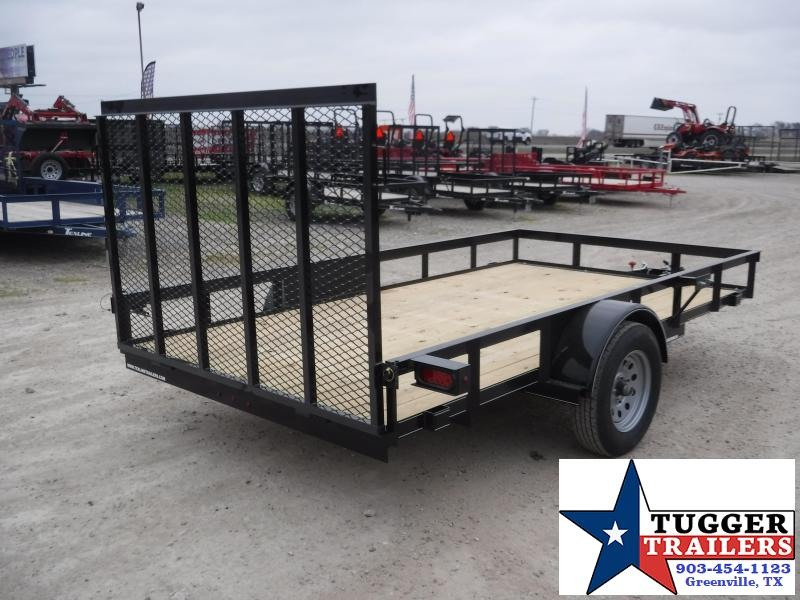 2020 TexLine 77x12 12ft Flatbed Ramp Utility Trailer