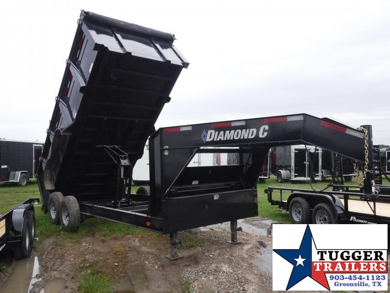 2019 Diamond C Trailers 82x16 Black 2019 LPD207 DumpTrailer