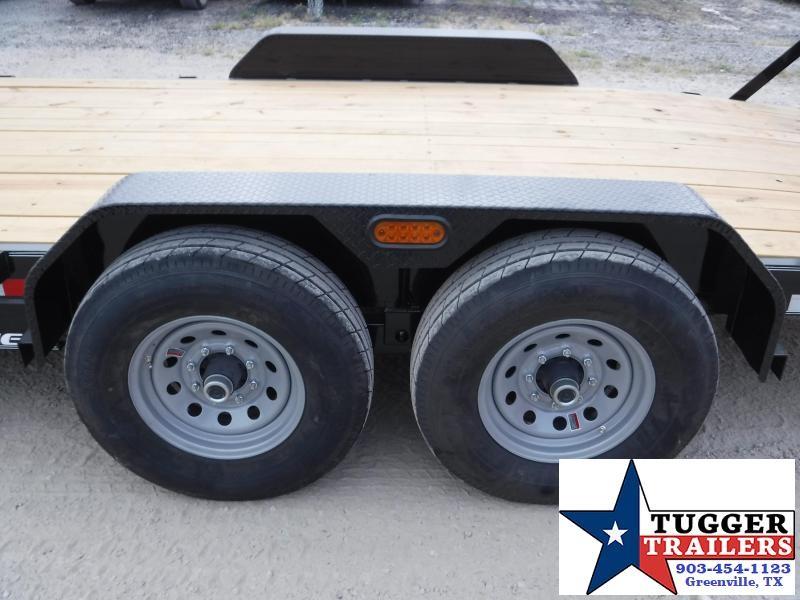 2019 TexLine 83x18 18ft Flatbed Utility Bobcat Equipment Trailer