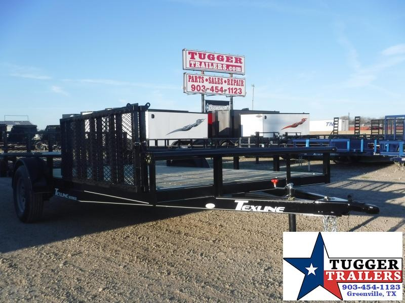 2020 TexLine 83x14 14ft Ramp Flatbed Work Hunt Utility Trailer
