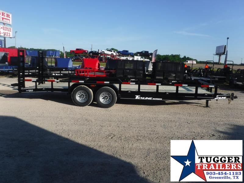 2020 TexLine 83x24 24ft Pipe Top Flatbed Open Steel Equipment Toy Farm Construction Utility Trailer
